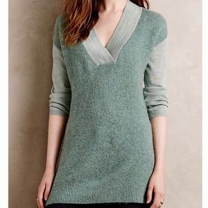 Anthropologie | Moth Wool Green Sweater